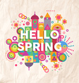 Hello spring quote poster design vector image