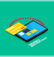mobile internet payment concept with tablet vector image