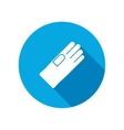 Rubber gloves icon Protection mitten symbol vector image