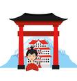 travel japan vector image