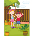 kids painting vector image