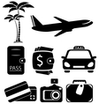isolated objects for travel vector image