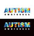 Autism Word vector image