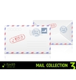 Sea mail envelope isolated on white background vector image