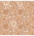 seamless Hand drawn ornamental pattern with circle vector image