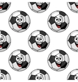 Cartoon football balls seamless pattern vector image