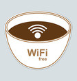 Free wi-fi label vector image