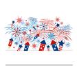 Fireworks design for independence day vector image vector image