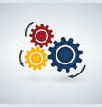 color template infographic with gears vector image