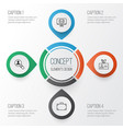 corporate icons set collection of email open vector image