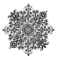 Geometric round element snowflake or mandala vector image