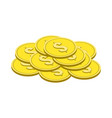 gold coins symbol flat isometric icon or logo 3d vector image