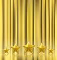 golden curtain vector image