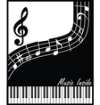 music inside black and white vector image