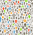 Seamless background of different color arrows vector image