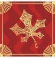 Leaf pattern gold vector image