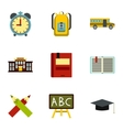 Children education icons set flat style vector image