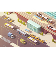 City Transport Isometric vector image
