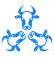 cow trinity icon grunge watermark vector image