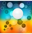 Abstract geometric shape from circles vector image
