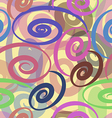 seamless pattern with colored ribbons vector image
