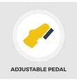 Adjustable pedal flat icon vector image vector image