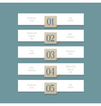 Modern white design template for graphic or vector image vector image