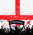 crowd cheer england vector image