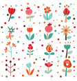 cute flowers set collection vector image