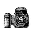 medium format camera vector image