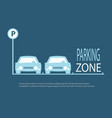 parking zone blue background vector image