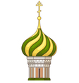 russian church vector image