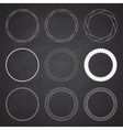 Set of 9 circle summer frames borders vector image