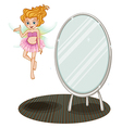 A fairy beside a mirror vector image vector image