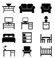 House Furniture icons vector image