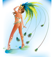 Carnival Dancer vector image