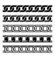 Set of Seamless Chains Template Isolated on White vector image vector image