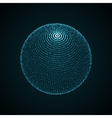 3D illuminated sphere of glowing particles vector image