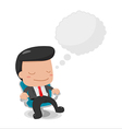 Man Sit down Thinking Bubble Text vector image