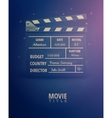 Movie Information vector image vector image