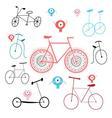 different bikes vector image