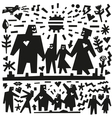 Family doodles vector image