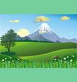landscape - mountain range on the horizon vector image