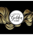 Luxury golden modern card vector image