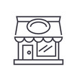 restaurant building line icon sign vector image