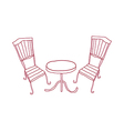 A view of table vector image