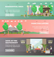 set of love horizontal banners in flat vector image