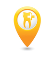 dental clinic icon pointer yellow vector image