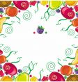 tropical fruit framework vector image