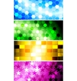 bright banners collection vector image vector image